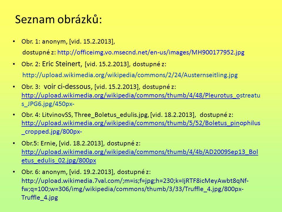Seznam obrázků: Obr. 1: anonym, [vid. 15.2.2013],